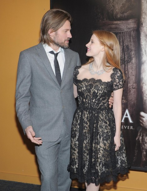 Nikolaj Coster Waldau And Jessica Chastain At Event Of Mama Large Picture