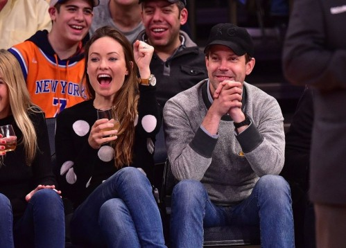 Olivia Wilde Watching New York Knicks Vs Los Angeles Clippers Game At The Garden New York City
