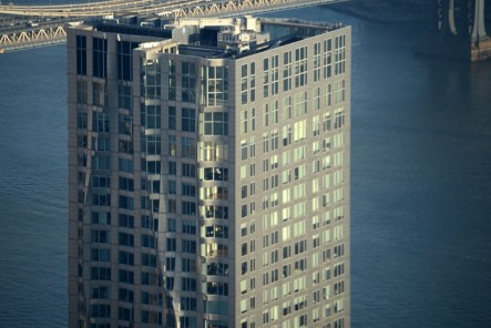 New York By Gehry Top Few Floors And Roof Close Up From One World Trade Center Observatory Late Afternoon One