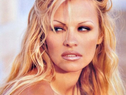 Pamela Anderson At Vancouver Canucks Game