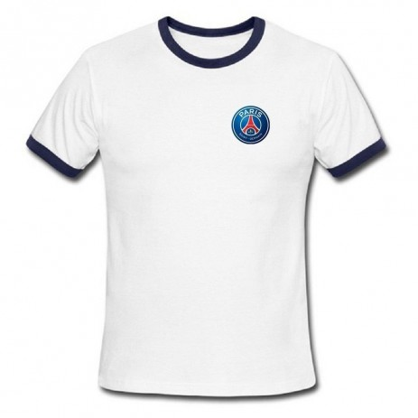 Welcome Fashion Clothes Mens Shirts Paris Saint Germain Football Club White Navy Size Paris Saint Germain