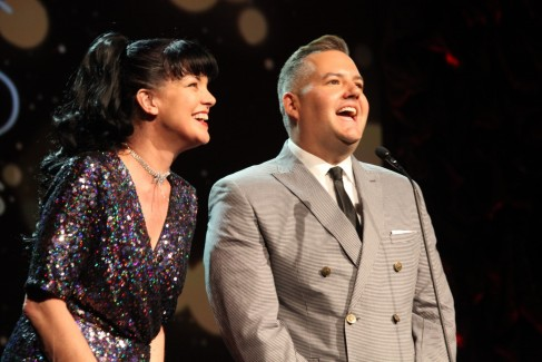 Gmcla Voice Awards Pauley Perrette And Ross Mathews On Stage Pauley Perrette