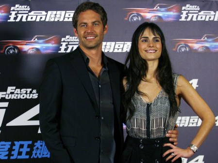 Panama Born Actress Jordana Brewster And Actor Paul Walker Pose For Photographers During News Conference For The Upcoming Movie Fast And Furious In Taipei April Fashion