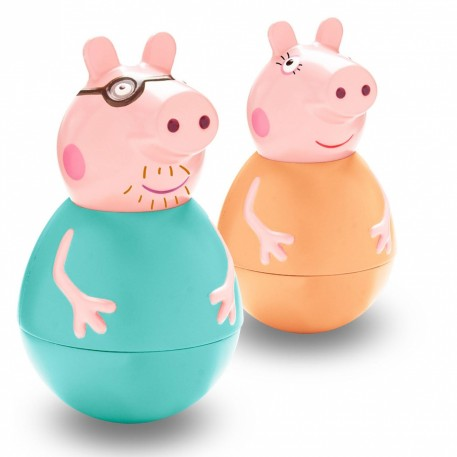 Weebles Peppa Pig Mummy Daddy Figure Set Assortment Peppa Pig