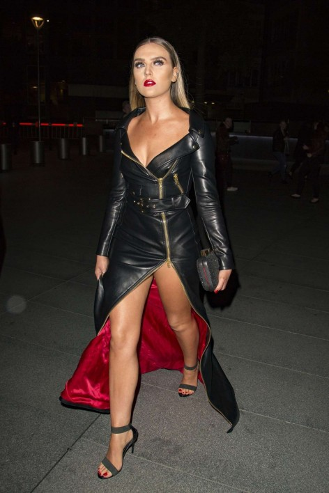 Perrie Edwards Leather Heels Perrie Edwards