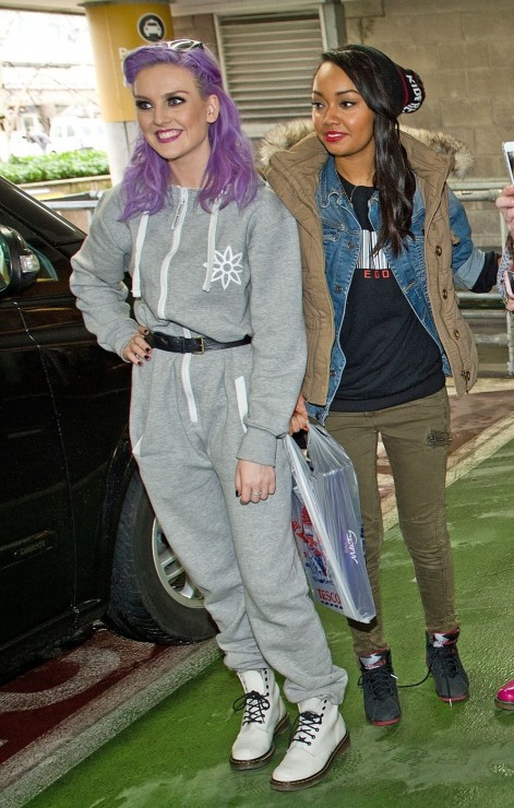 Perrie Edwards Purple Hair
