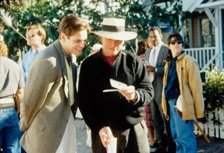 Jim Carrey And Peter Weir In The Truman Show Large Picture
