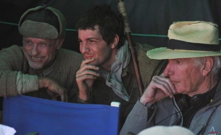 Still Of Ed Harris Peter Weir And Jim Sturgess In The Way Back Large Picture
