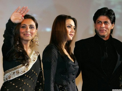 Rani Couples Mukherjee With Preity Zinta Shahrukh Khan Family