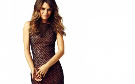 Rachel Bilson In Black Lace Dress Rachel Bilson