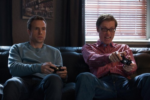 Still Of Stephen Merchant And Rafe Spall In Give It Year Large Picture Give It Year