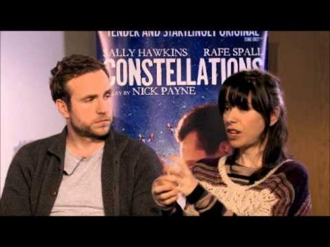 Whatsonstage Talks To Constellations Stars Rafe Spall And Sally Hawkins