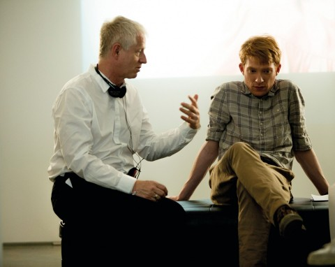 Richard Curtis With Domhnall Gleeson Comic Relief