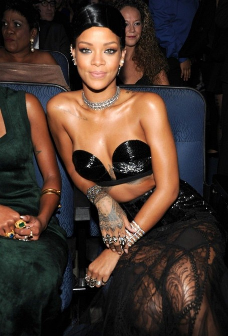 Rihanna During The St American Music Awards In Los Angeles