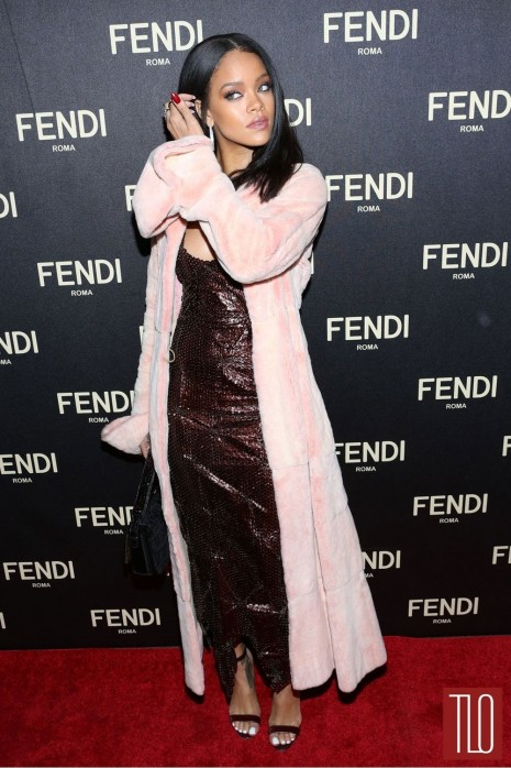 Rihanna Fendi New York Flagship Boutique Inauguration Party Red Carpet Fashion Tom Lorenzo Site Tlo