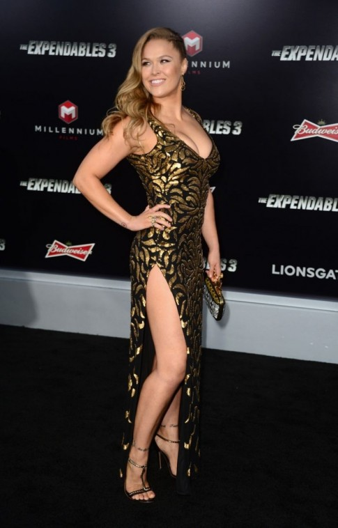 Ronda Rousey The Expendables Premiere In Hollywood