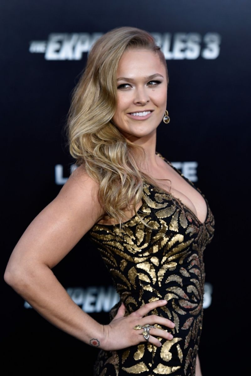 Ronda Rousey The Expendables Premiere In Hollywood Ronda Rousey