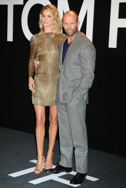 Rosie Huntington Whiteley And Jason Statham At Tom Ford Autumnwinter Womenswear Collection Party Rosie Huntington Whiteley