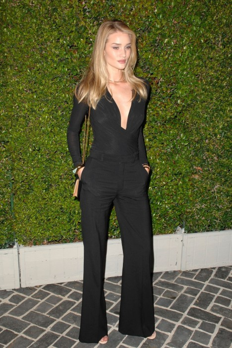 Rosie Huntington Whiteley At Chloe Los Angeles Fashion Show Dinner Fashion