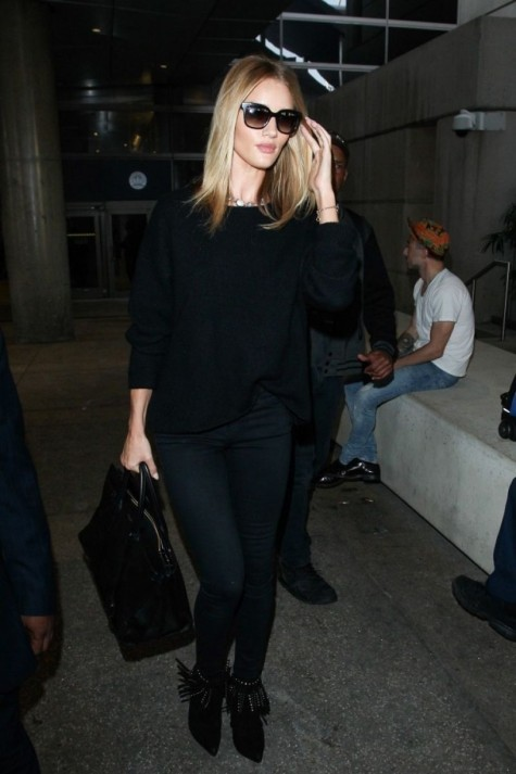 Rosie Huntington Whiteley At Lax Airport February Rosie Huntington Whiteley