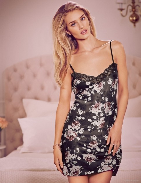 Rosie Huntington Whiteley Autograph Pajamas Lingerie Pictures Victoria Secret
