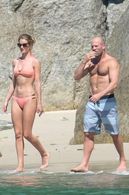 Rosie Huntington Whiteley Bikini Jason Statham Shirtless Beach Thailand Rosie Huntington Whiteley