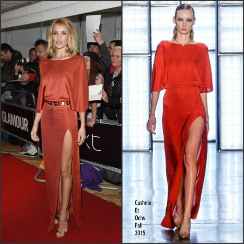 Rosie Huntington Whiteley In Cushnie Et Ochs Glamour Womanof The Year Awards