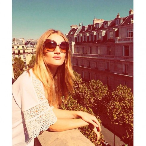 Rosie Huntington Whiteley Rosiehw Paris Instagram Large Instagram