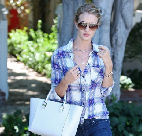 Rosie Huntington Whiteley Victoria Beckham Quincy Tote
