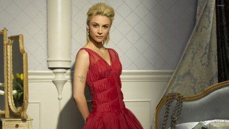 Samaire Armstrong With Red Dress Samaire Armstrong