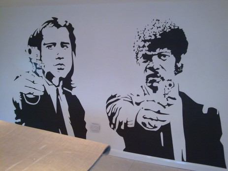 Samuel Jackson Pulp Fiction Stencilwwwmorethanartcouk The Art Of Paul Young Tahl Oa