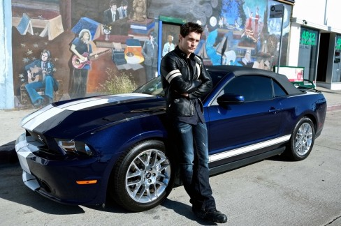 Ford Shelby Gts Mustang Convertible And Sam Witwer Sam Witwer
