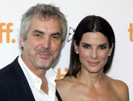 Sandra Bullock And Director Alfonso Cuaron