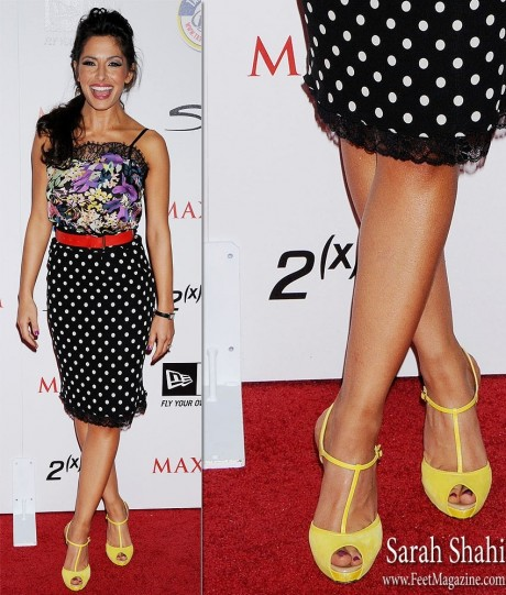 Sarah Shahi Feet On The Red Carpet Fashion