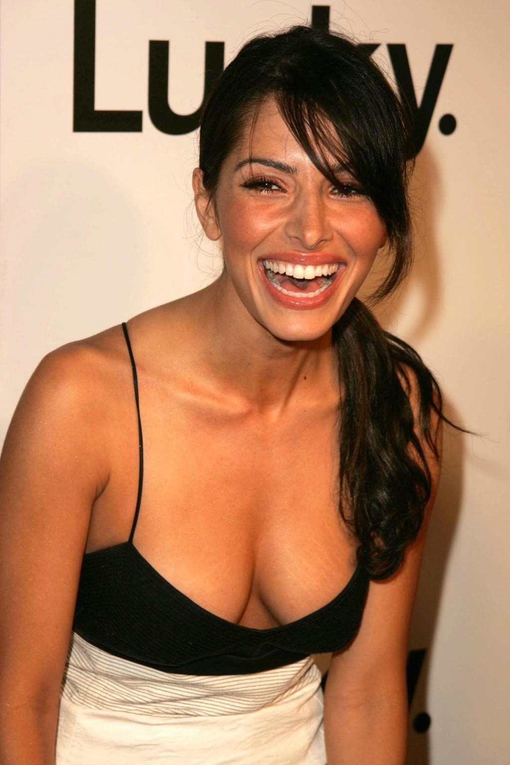 Sarah Shahi Hot Low Dress Sarah Shahi