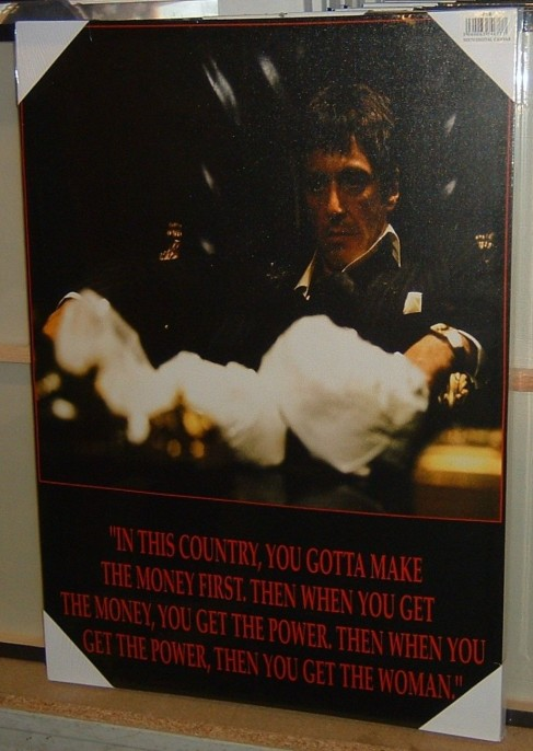 Superb Scarface Al Pacino In This Country You Gotta Make The Money First Movie Canvas Art Picture Print Brand New Free Uk Shipping Money