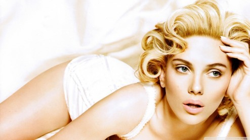 Scarlett Johansson On Bed