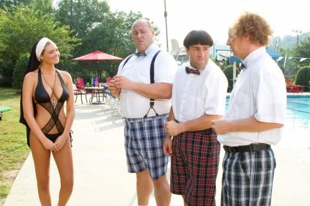 Still Of Sean Hayes Chris Diamantopoulos Will Sasso And Kate Upton In The Three Stooges