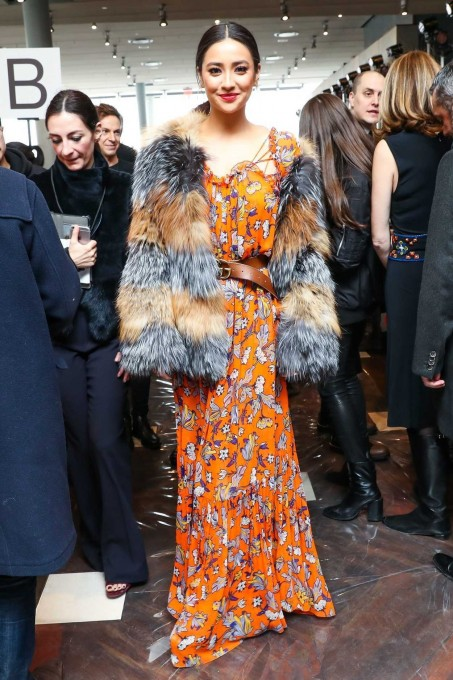 Shay Mitchell At The Tory Burch Show During The New York Fashion Week Shay Mitchell