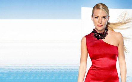 Sienna Miller In Red Dress High Resolution Wallpaper Movies