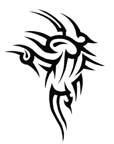 Chest And Arm Tribal Tattoo Designs