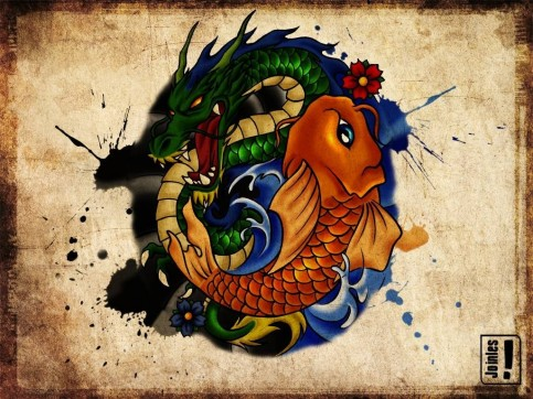 Great Tattoos Dragon And Koi Asian Tattoo Tattoos