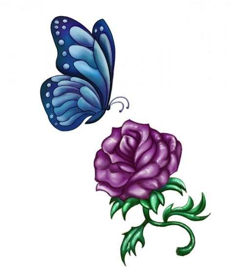Purple Rose Tattoo Designs Tattoos