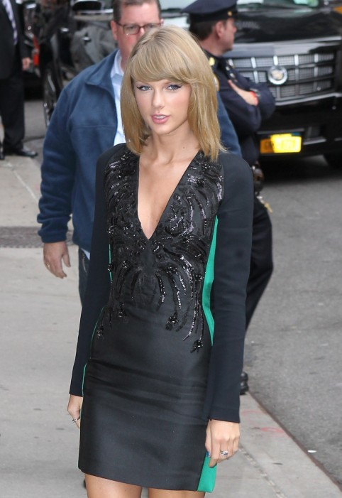 Taylor Swift Arriving At The Late Show With David Latterman