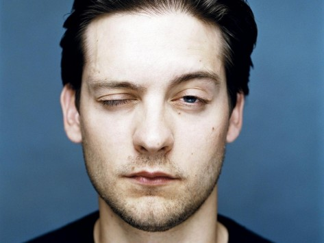 Tobey Maguire Close One Eyes