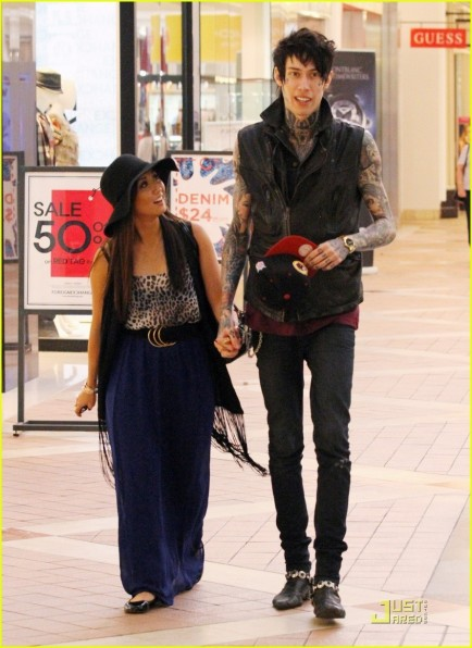 Brenda Song Holds Hands Trace