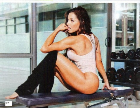 Trish Stratus In Inside Fitness Magazine July Issue Gif