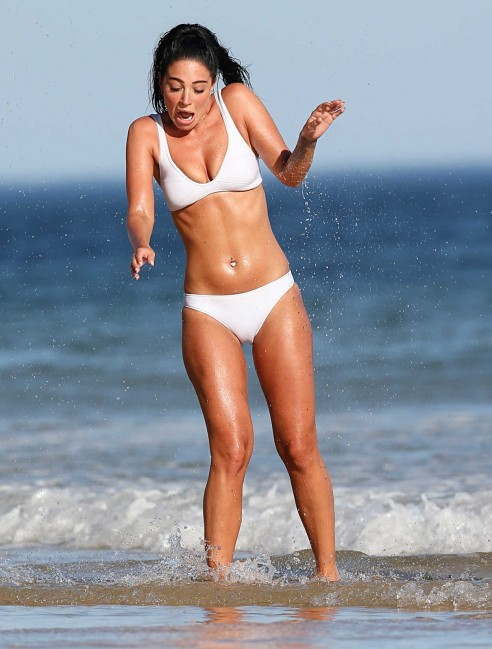 Tulisa Contostavlos In Bikini At The Beach In Portugal Tulisa Contostavlos