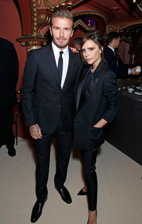 David Beckham Victoria Beckham At The British Fashion Awards In Partnership With Swarovski Darren Gerrish British Fashion Council Hi Res Victoria Beckham