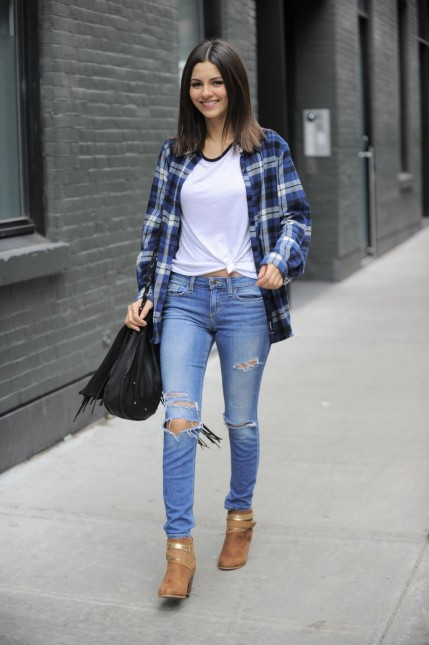 Victoria Justice Back From Lunch In Downtown New York